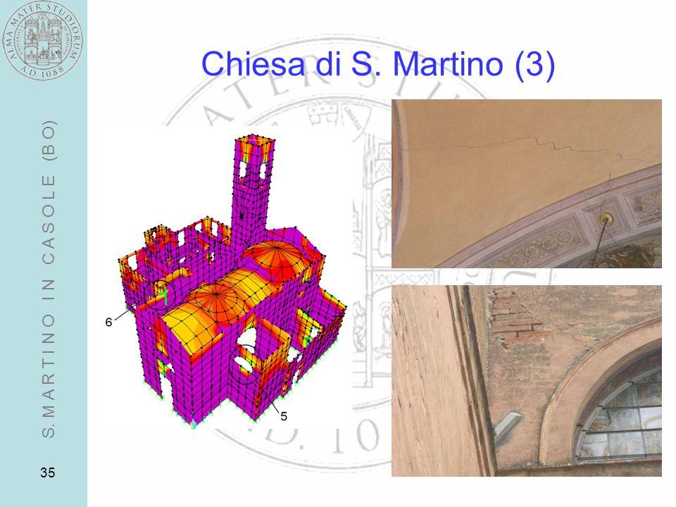Chiesa di S. Martino (3) S. M A R T I N O I N C A S O L E (B O)