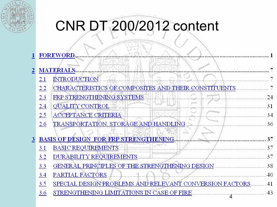 CNR DT 200/2012 content
