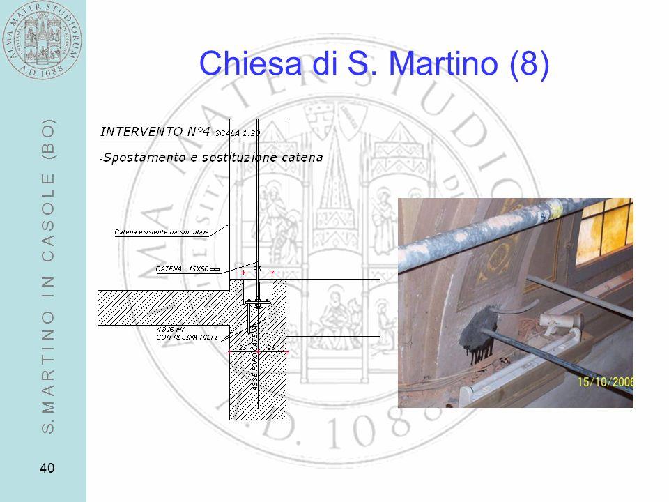 Chiesa di S. Martino (8) S. M A R T I N O I N C A S O L E (B O)