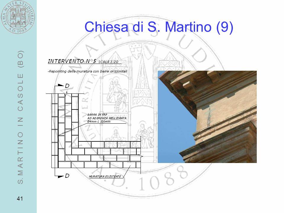 Chiesa di S. Martino (9) S. M A R T I N O I N C A S O L E (B O)