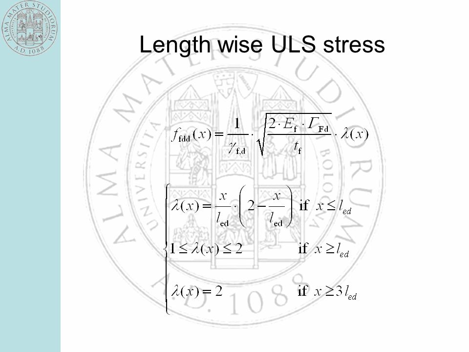 Length wise ULS stress