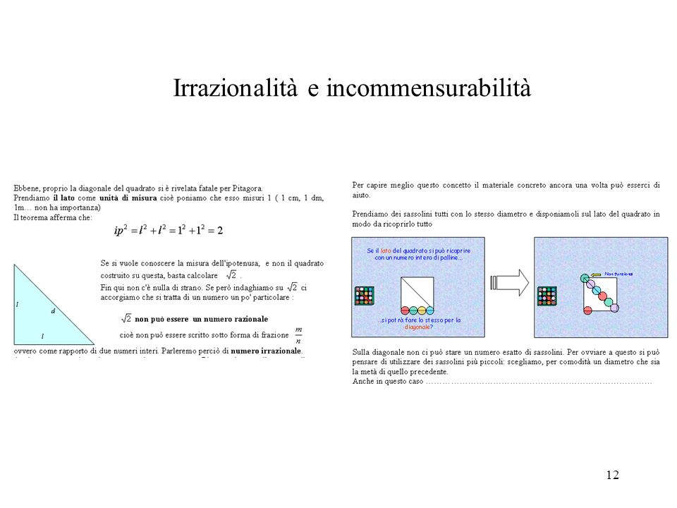 Irrazionalità e incommensurabilità