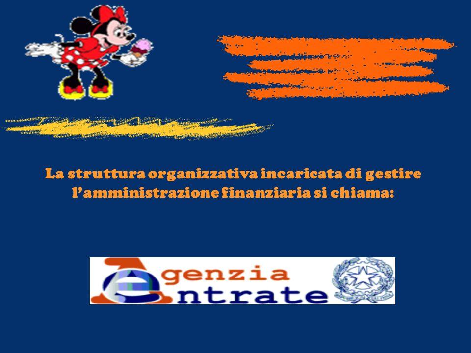 La struttura organizzativa incaricata di gestire l'amministrazione finanziaria si chiama: