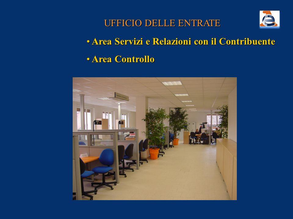 UFFICIO DELLE ENTRATE Area Servizi e Relazioni con il Contribuente Area Controllo