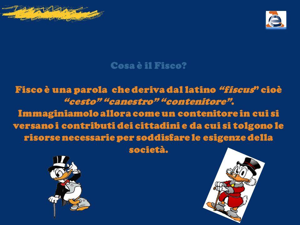 Cosa è il Fisco Fisco è una parola che deriva dal latino fiscus cioè cesto canestro contenitore .