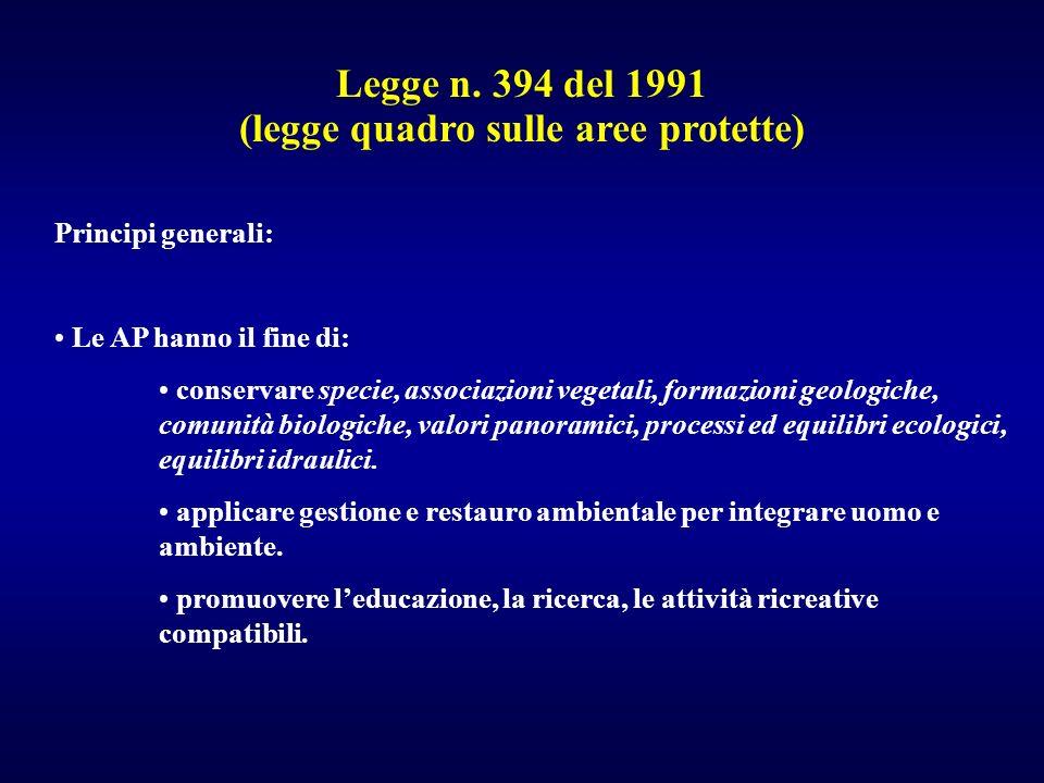 (legge quadro sulle aree protette)