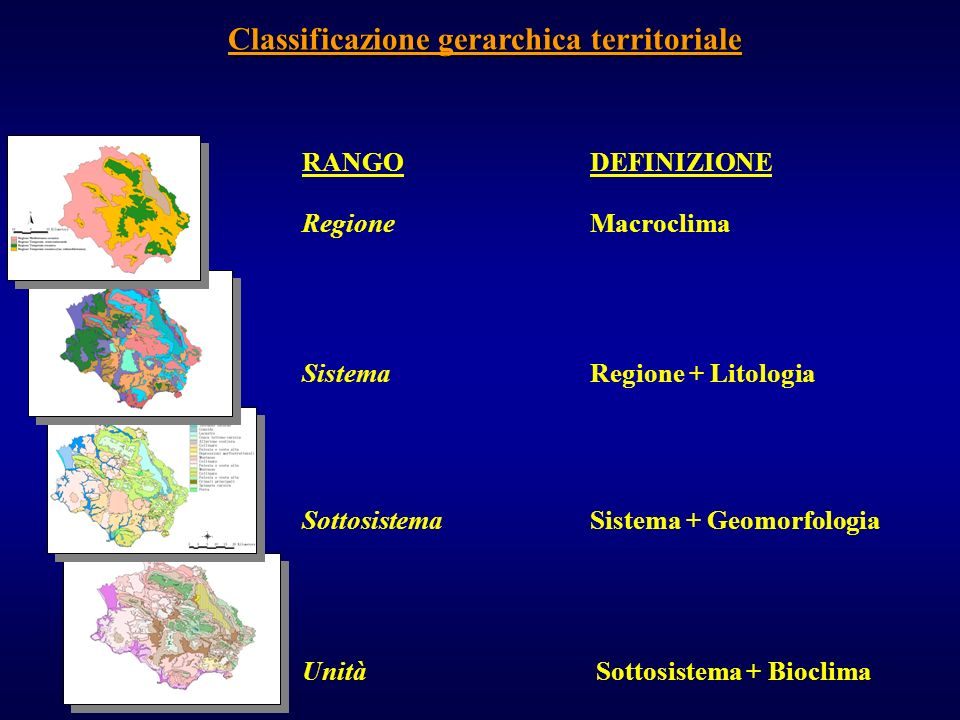 Classificazione gerarchica territoriale