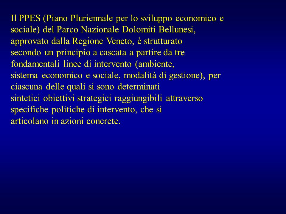 Il PPES (Piano Pluriennale per lo sviluppo economico e