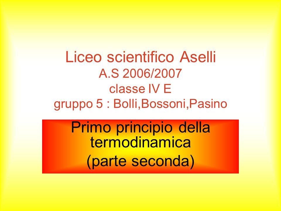 Primo principio della termodinamica (parte seconda)