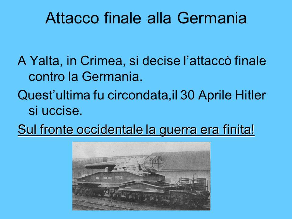 Attacco finale alla Germania