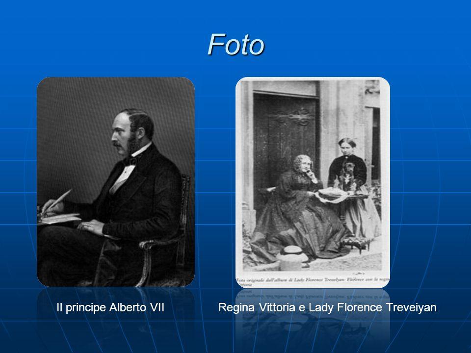 Foto Il principe Alberto VII Regina Vittoria e Lady Florence Treveiyan