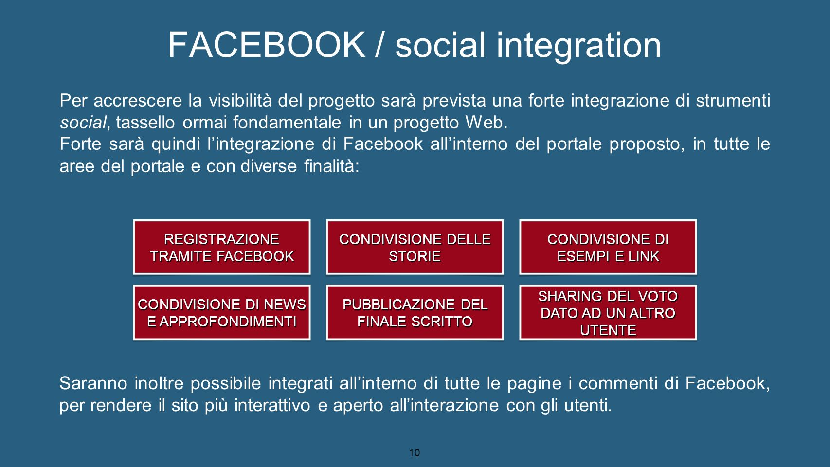 FACEBOOK / social integration