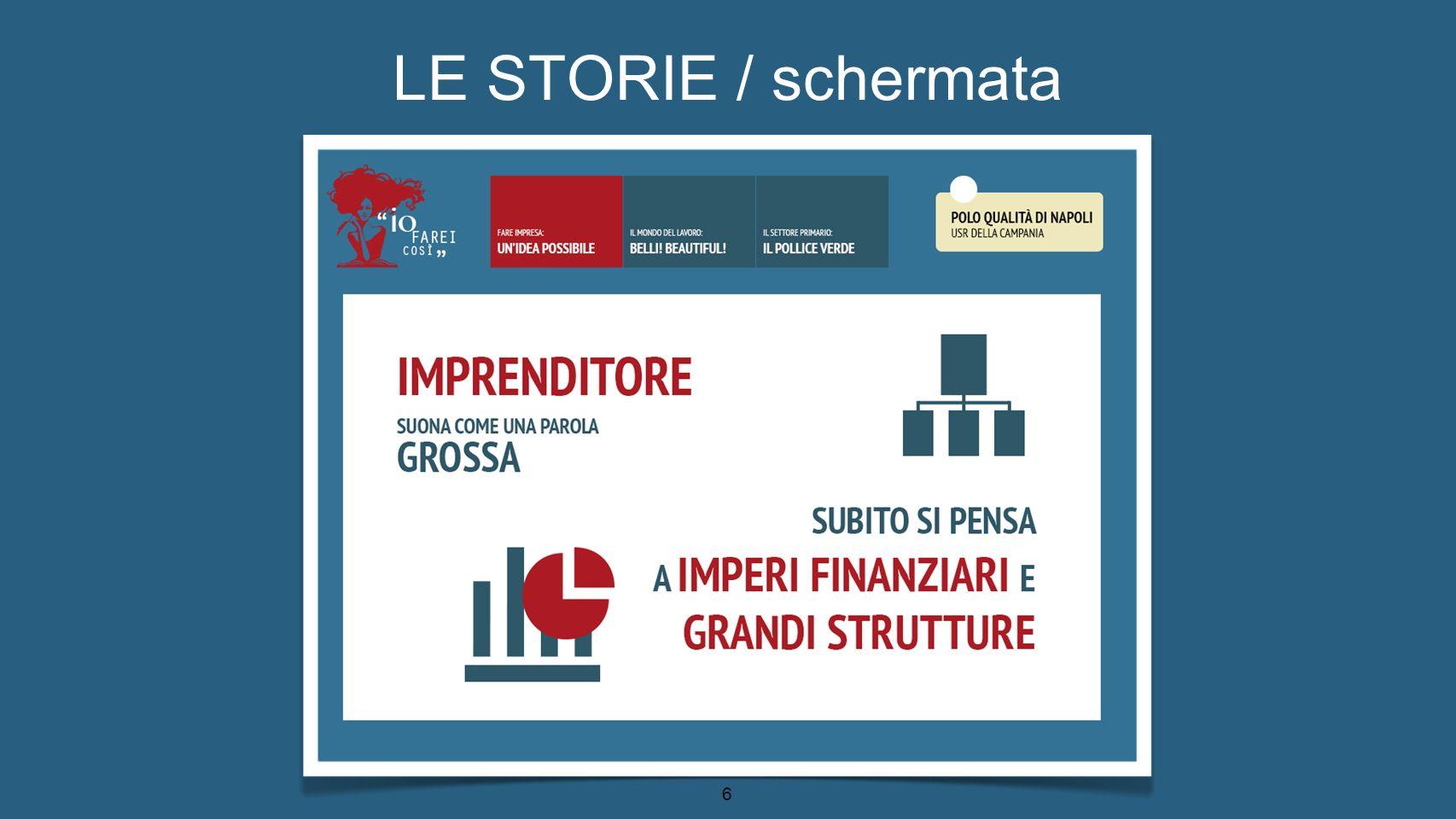 LE STORIE / schermata