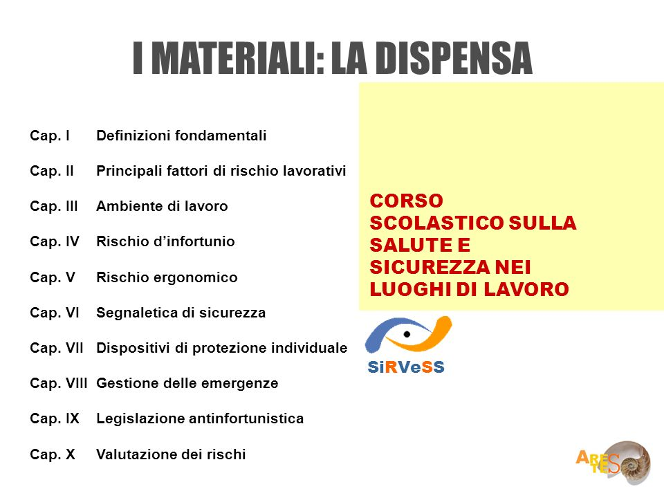 I MATERIALI: LA DISPENSA