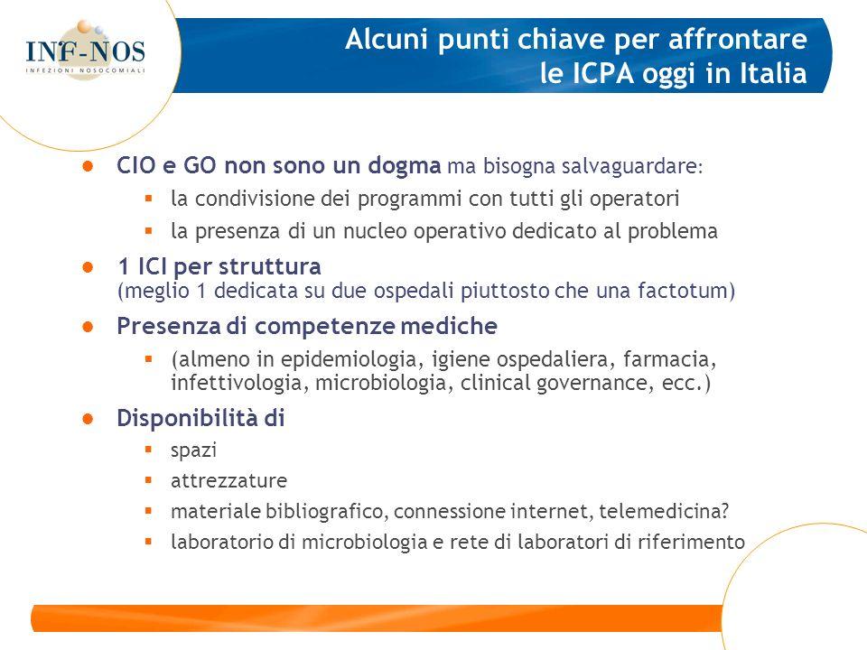 Alcuni punti chiave per affrontare le ICPA oggi in Italia