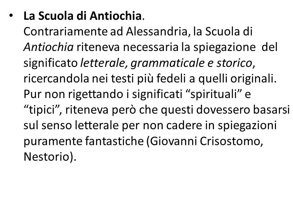 La Scuola di Antiochia.