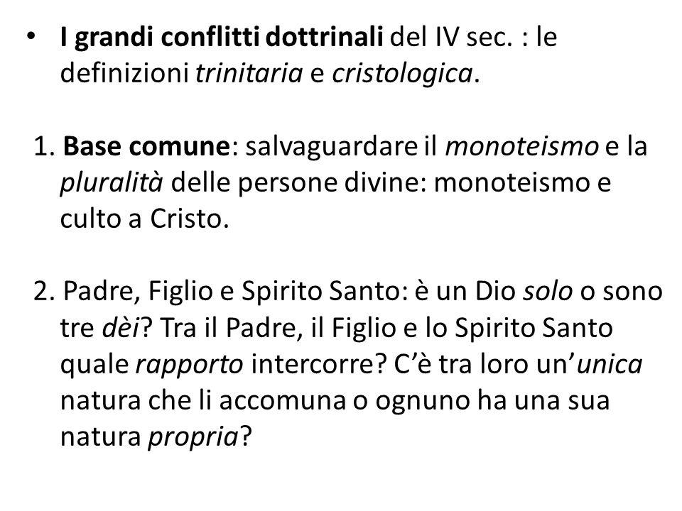 I grandi conflitti dottrinali del IV sec