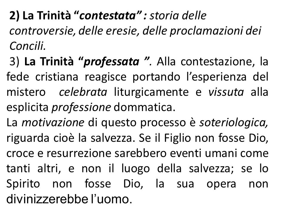 2) La Trinità contestata : storia delle