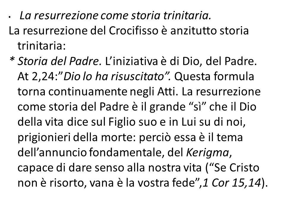 La resurrezione del Crocifisso è anzitutto storia trinitaria: