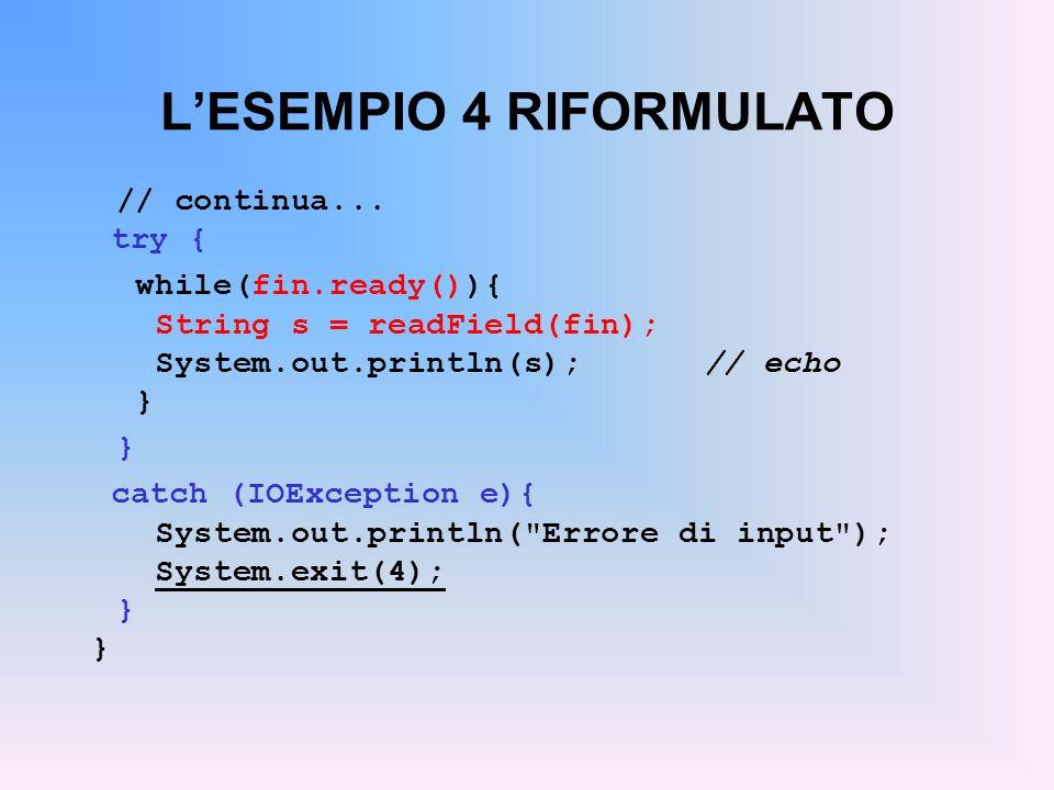 L'ESEMPIO 4 RIFORMULATO