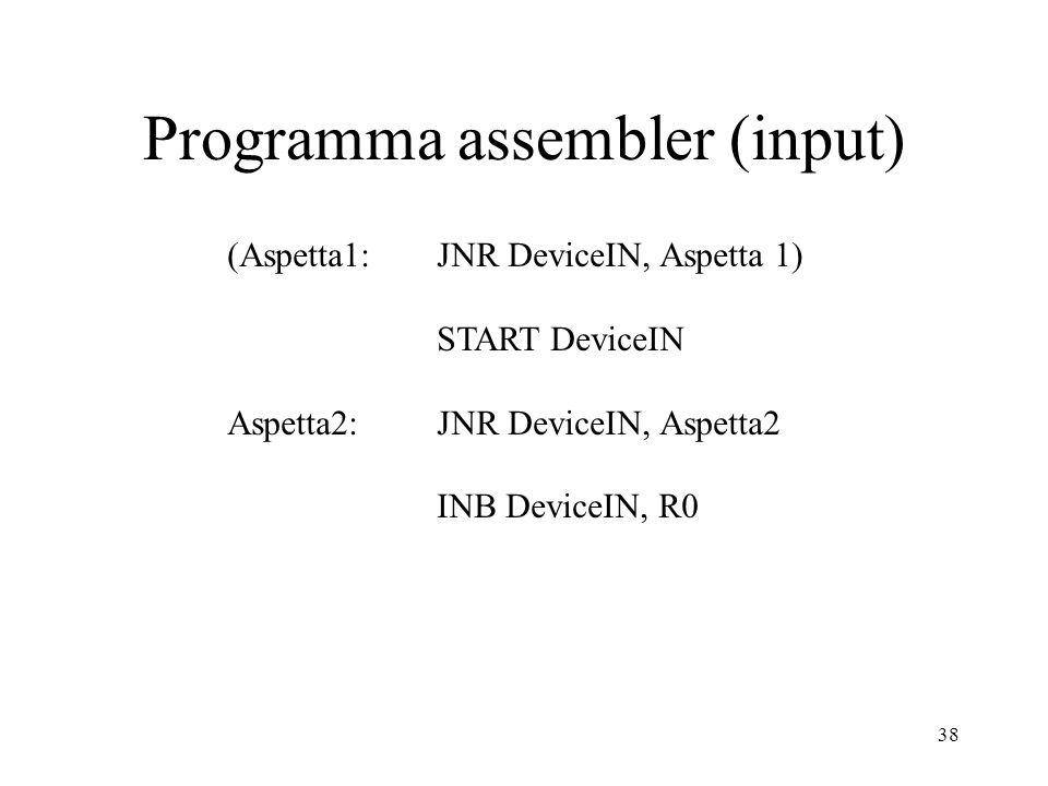 Programma assembler (input)