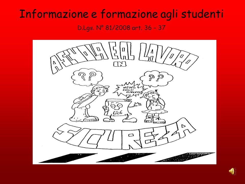 Informazione e formazione agli studenti