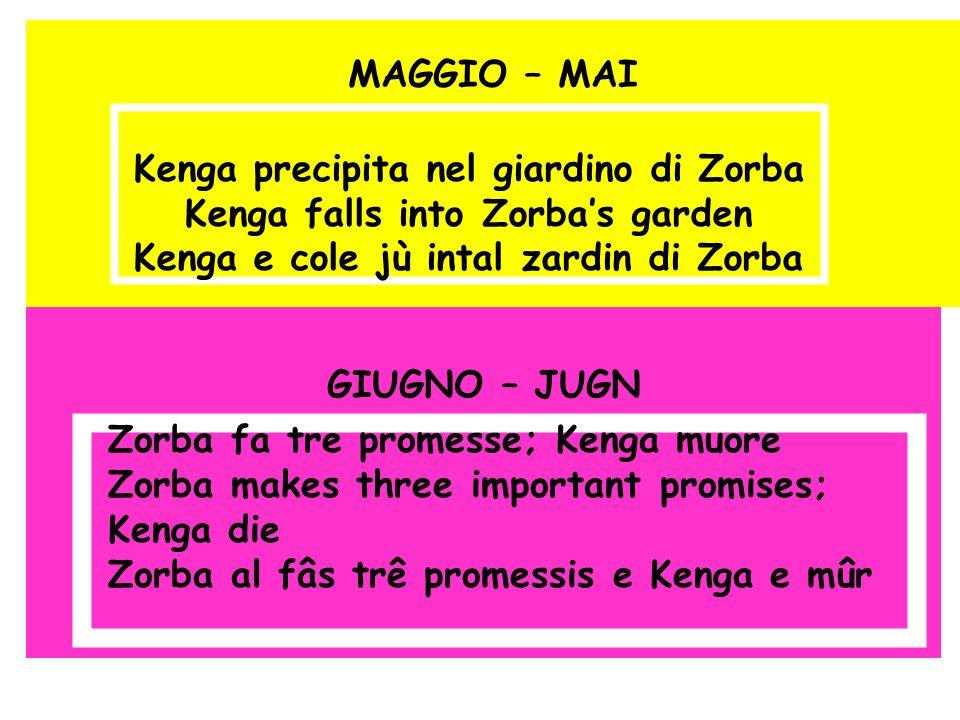 Kenga precipita nel giardino di Zorba Kenga falls into Zorba's garden
