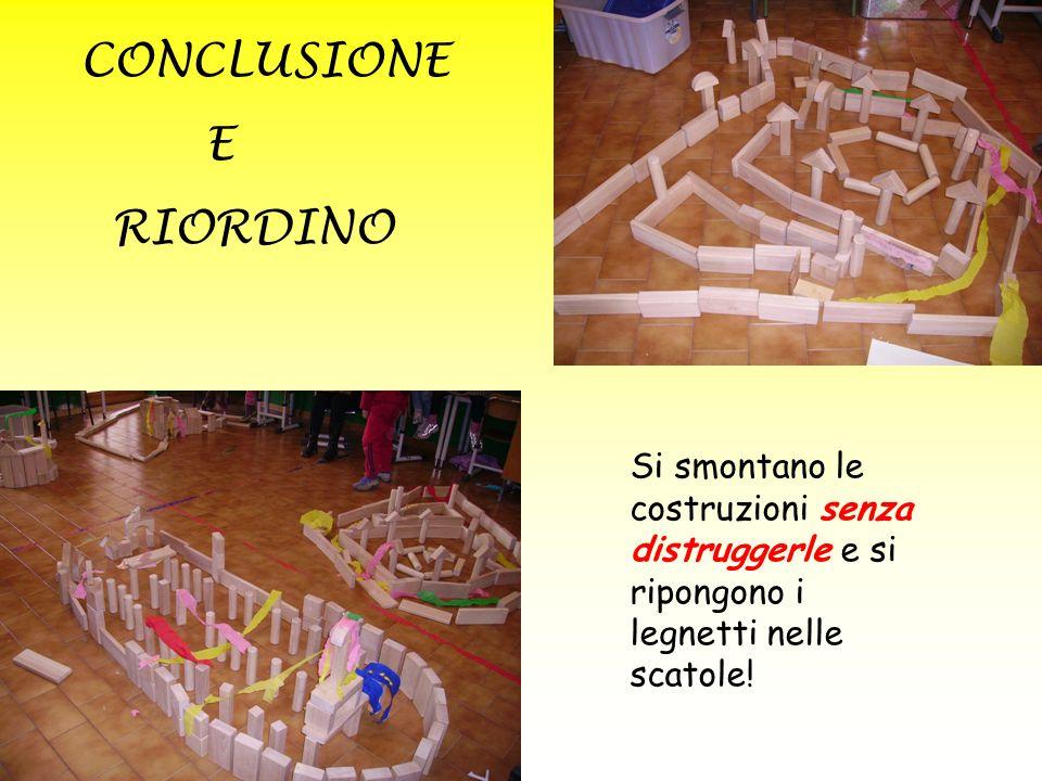 CONCLUSIONE E RIORDINO
