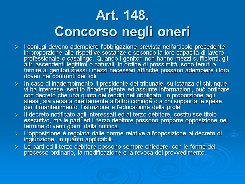 Art. 148. Concorso negli oneri