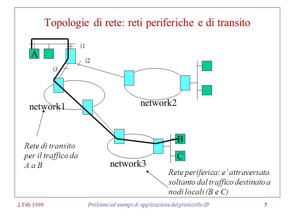 Topologie di rete: reti periferiche e di transito