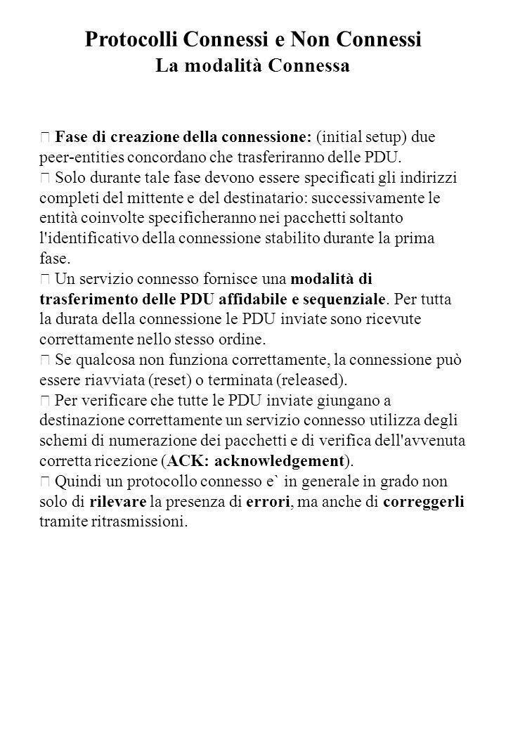 Protocolli Connessi e Non Connessi