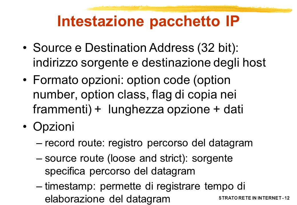 Intestazione pacchetto IP