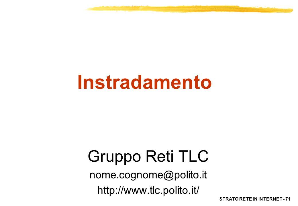 Gruppo Reti TLC nome.cognome@polito.it http://www.tlc.polito.it/