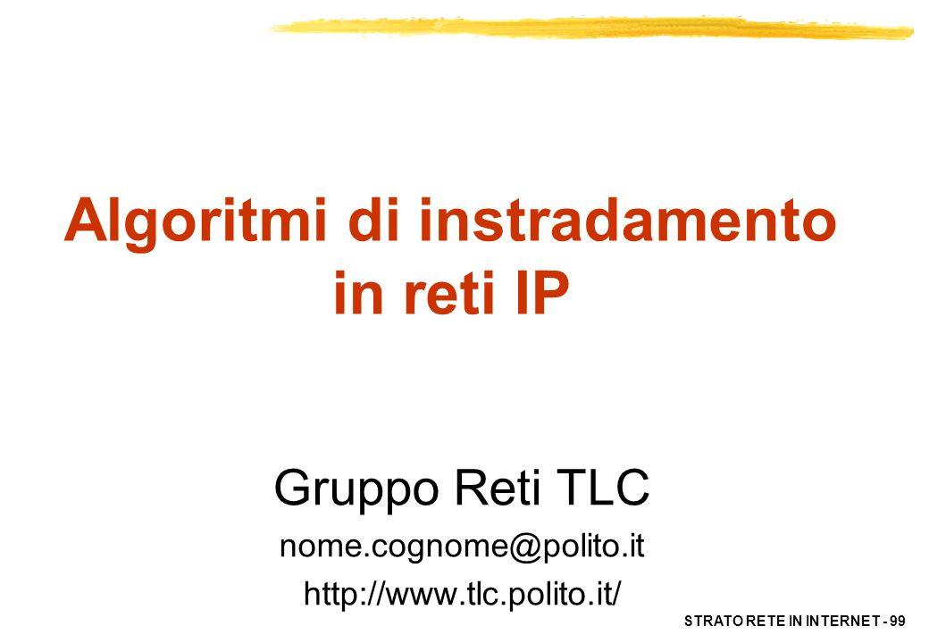 Algoritmi di instradamento in reti IP