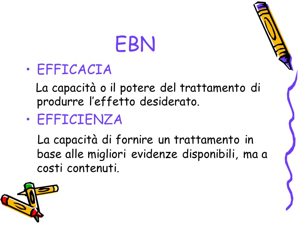 EBN EFFICACIA EFFICIENZA