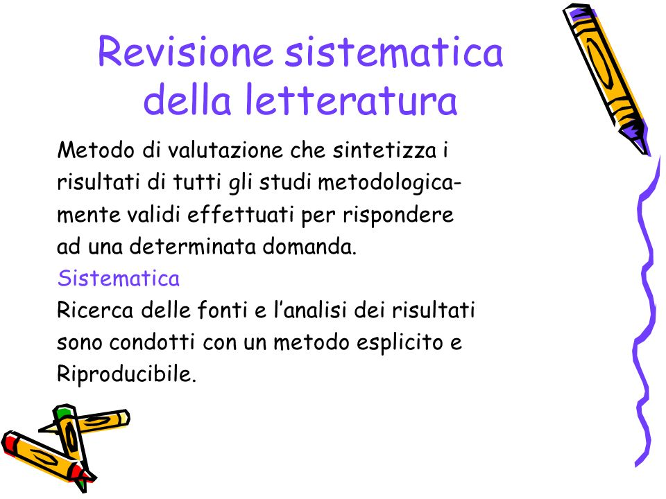 Revisione sistematica della letteratura