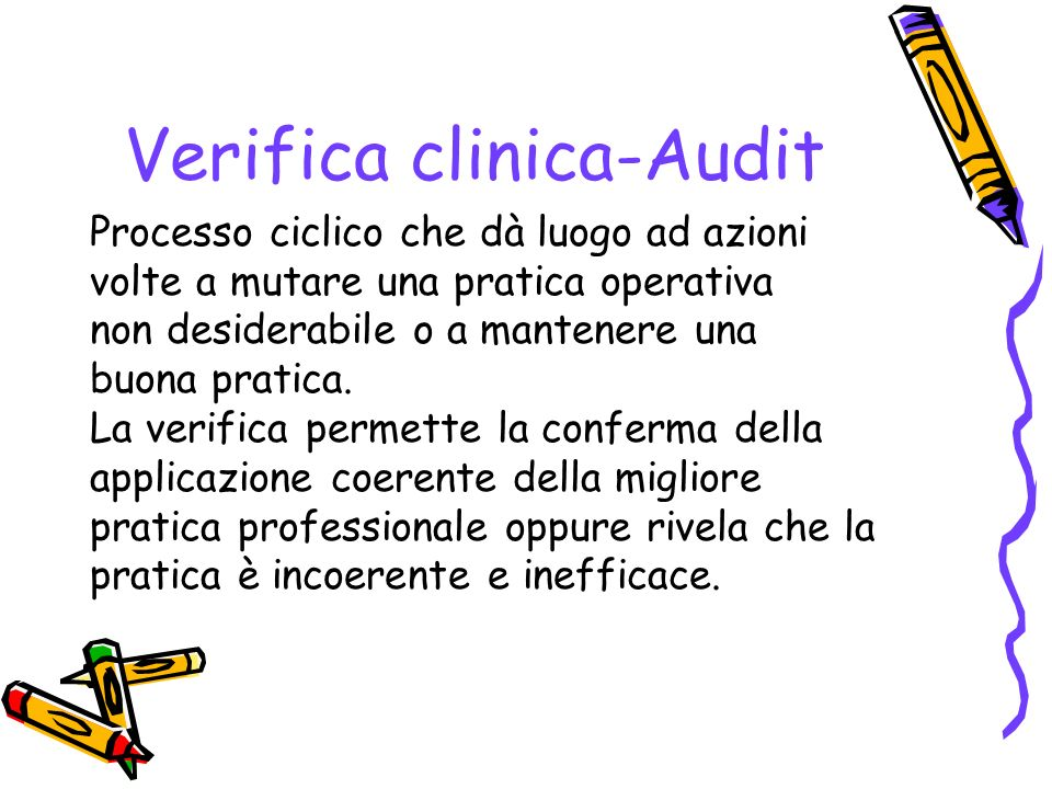 Verifica clinica-Audit
