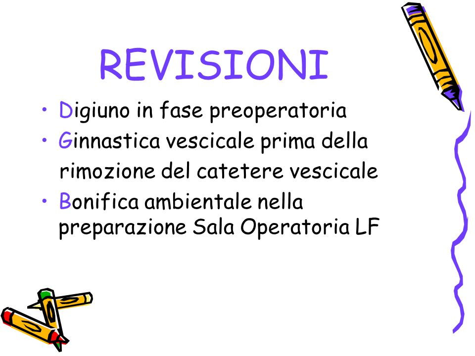 REVISIONI Digiuno in fase preoperatoria