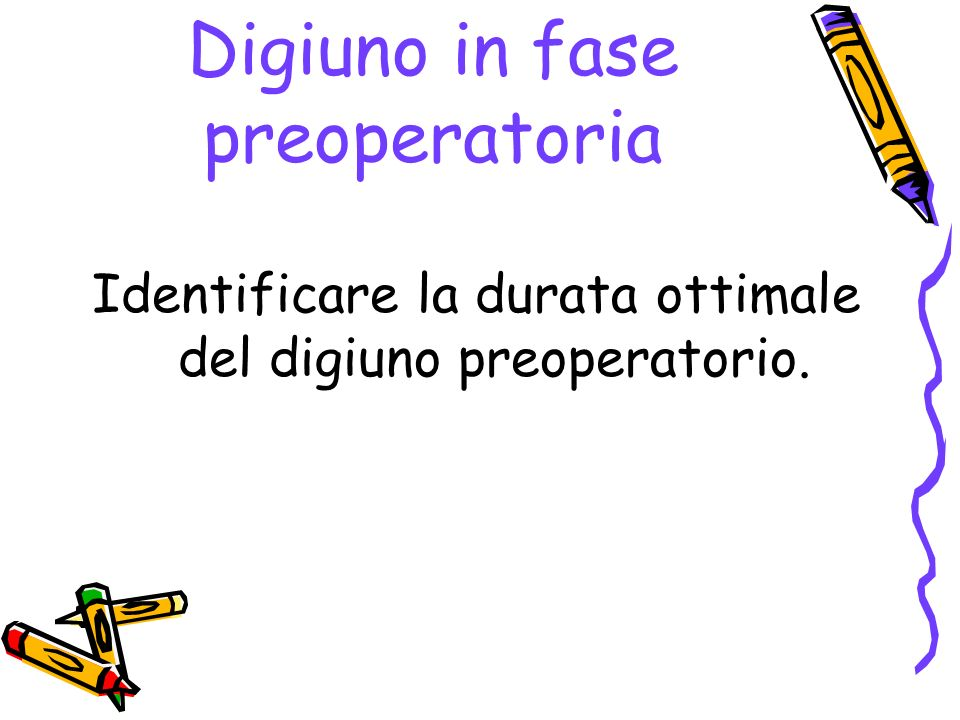 Digiuno in fase preoperatoria