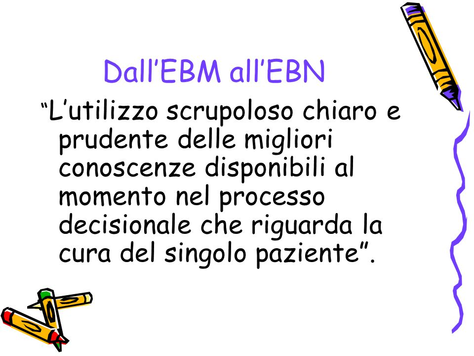 Dall'EBM all'EBN