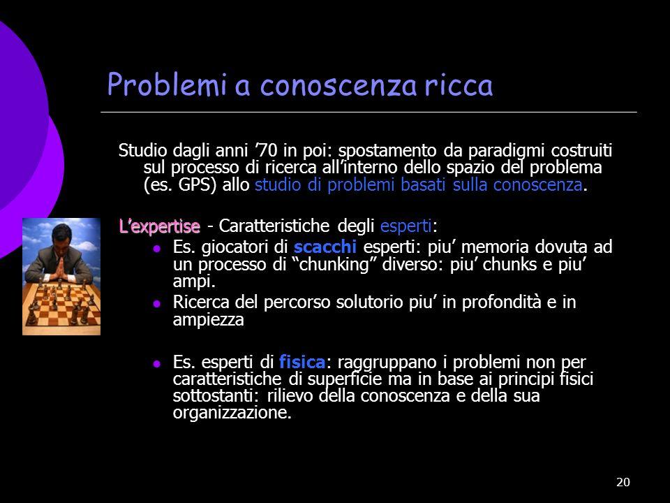 Problemi a conoscenza ricca