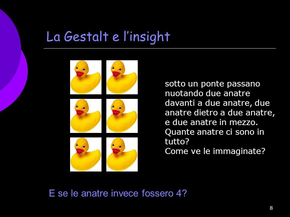 La Gestalt e l'insight E se le anatre invece fossero 4