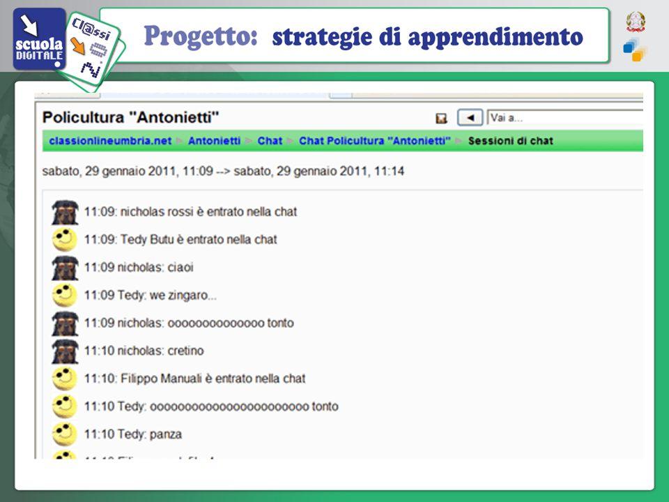 Chat – Il modulo Chat permette ai partecipanti di avere una conversazione scritta in tempo reale (sincrona) via web.