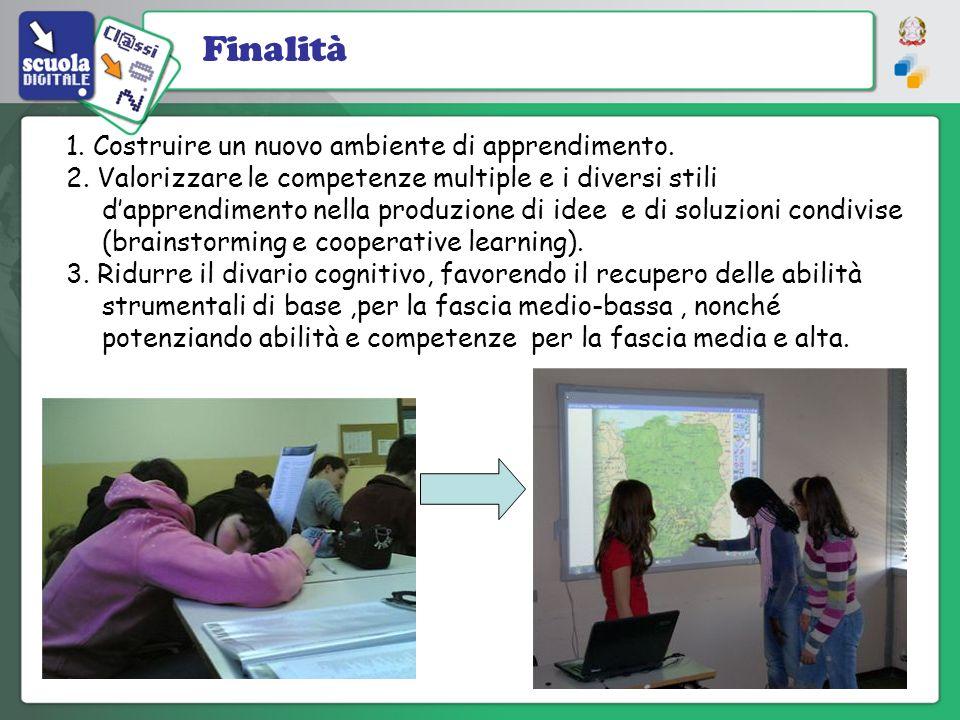 Finalità 1. Costruire un nuovo ambiente di apprendimento.
