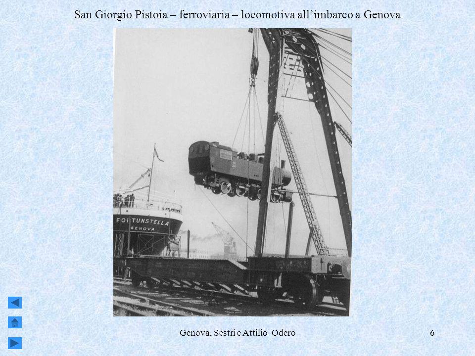San Giorgio Pistoia – ferroviaria – locomotiva all'imbarco a Genova