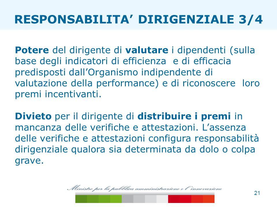 ESTENSIONE TAGLIA ONERI RESPONSABILITA' DIRIGENZIALE 3/4