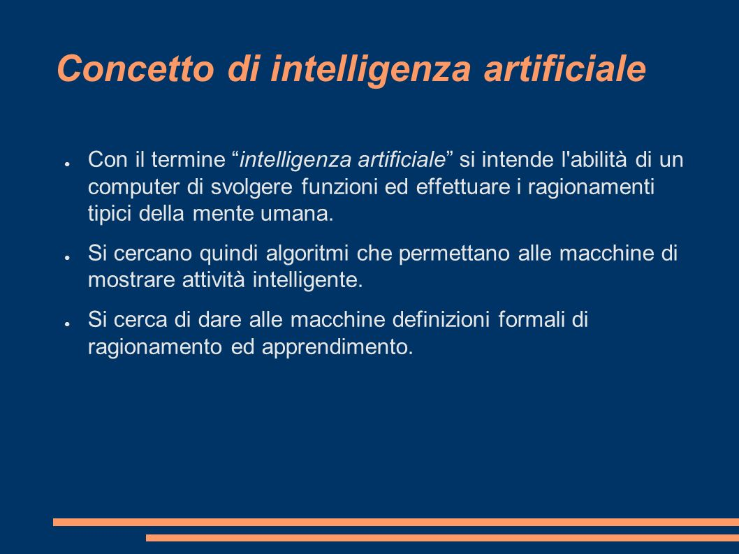 Concetto di intelligenza artificiale