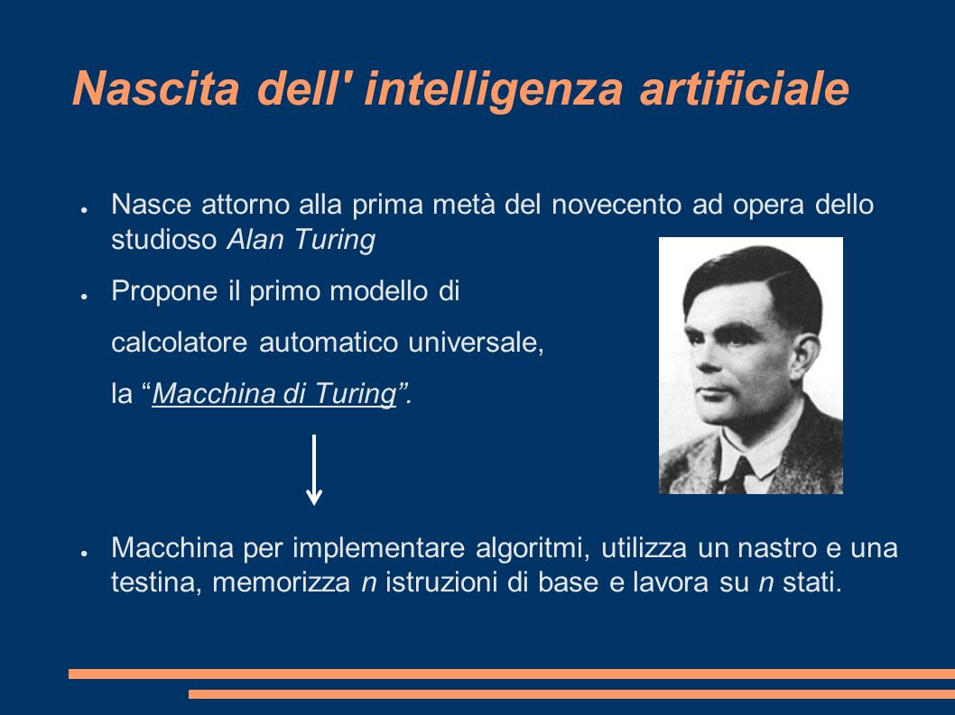 Nascita dell intelligenza artificiale