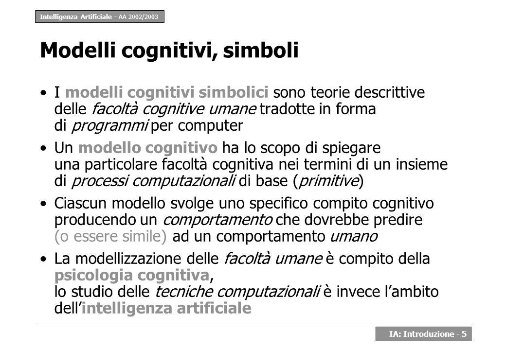 Modelli cognitivi, simboli