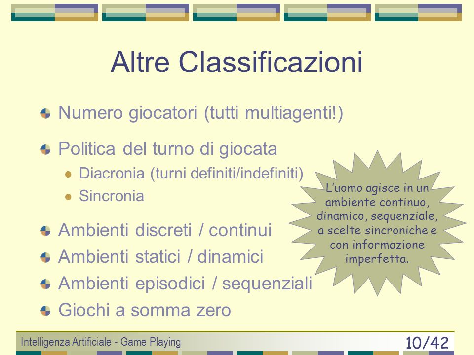 Altre Classificazioni